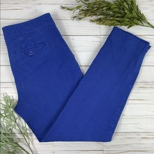Talbots Womens 4 Chatham Pants Blue Skinny Cropped